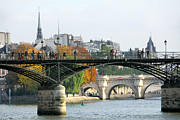 Attractions Prints - Paris Seine Print by Elena Elisseeva
