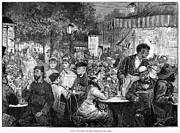 Waiter Prints - Paris: Sidewalk Cafe, 1879 Print by Granger