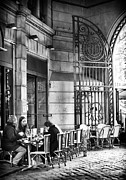 Outdoor Cafe Photo Prints - Paris Street Dining Print by John Rizzuto