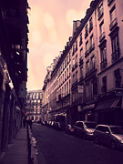 Paris Fine Art By Kathy Fornal Prints - Paris Surreal Dreamy Pink Street Scene Print by Kathy Fornal