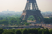 French Culture Metal Prints - Paris Tour Eiffel 301 Pollution, Pollution Metal Print by Pascal POGGI