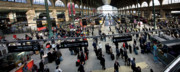 Crowds  Prints - Paris Train Station Print by Frederic A Reinecke