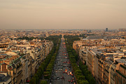 Exterior Art - Paris View At Sunset by CNovo