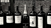 French Wine Bottles Photo Prints - Paris Wine Shop Print by Tony Grider