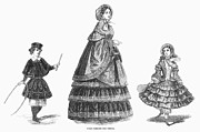 Hoop Prints - Paris Winter Fashion, 1852 Print by Granger
