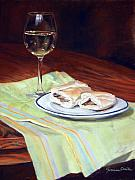 Jeanne Rosier Smith Metal Prints - Parisian lunch Metal Print by Jeanne Rosier Smith