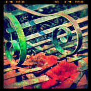 Instagram Posters - Park Bench Detail Poster by Jill Battaglia