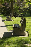 Park Benches Framed Prints - Park Benches Framed Print by Rosemary Legge
