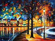 Afremov Art - Park By The River by Leonid Afremov