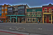 Store Fronts Framed Prints - Park City Store fronts Framed Print by Dan Friend