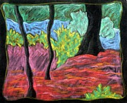 Abstract Landscape Pastels - Park Landscape by Elizabeth Fontaine-Barr