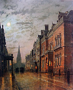 Grimshaw Framed Prints - Park Row Leeds 1882 Framed Print by Stefan Kuhn