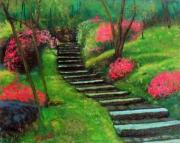 Steps Painting Originals - Park Steps by William Tremble