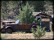 T Bucket Rat Rod Posters - Parked at the Trading Post Poster by Athena Mckinzie