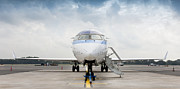 Airline Industry Prints - Parked Jet Airplane Print by Jaak Nilson