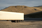 Sniffing Prints - Parked Semi Trailer Print by Eddy Joaquim