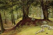 Parkhurst Paintings - Parkhurst Woods by Richard Redgrave