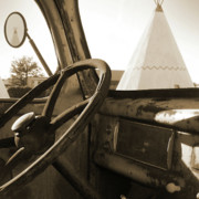 Car Mixed Media - Parking at the WigWam by Mike McGlothlen