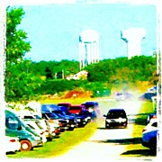 Impressionism Art - Parking Lot #android #andrography by Marianne Dow