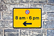Regulation Framed Prints - Parking sign Framed Print by Tom Gowanlock
