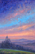 Blue Ridge Parkway Paintings - Parkway Glow II by Jeff Pittman