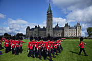 Red Coats Framed Prints - Parliament building Ottawa Canada  Framed Print by Garry Gay