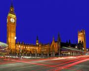 Palace Bridge Prints - Parliament Square in London England Print by Chris Smith