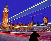 Parliament Square With Silhouette Print by Chris Smith
