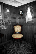 Old Chair Posters - Parlor Chair Poster by Cheryl Young
