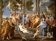 Poussin Posters - Parnassus, Apollo And The Muses, 1635 Poster by Photo Researchers