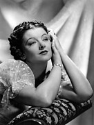 Puffy Sleeves Framed Prints - Parnell, Myrna Loy, Mgm Photo Framed Print by Everett