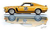 Parnelli Jones Trans Am Mustang Print by David Kyte