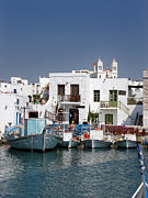 Turquoise Framed Prints - Paros Framed Print by Jane Rix