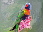 Parrot Print Paintings - Parrot by Bogdan Floridana Oana