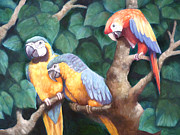 Woodpeckers Paintings - Parrot Painting by Audrey Peaty