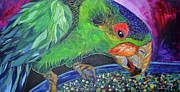 Parrot Print Paintings - Parrot by Renata Ferenc