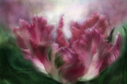 Parrot Print Prints - Parrot Tulip Print by Carol Cavalaris