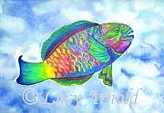 Parrotfish Paintings - Parrotfish by Lucy Arnold