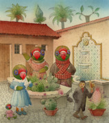 House Drawings - Parrots 08 by Kestutis Kasparavicius