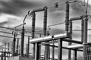 Black-and-white Metal Prints - Part Of The Grid Metal Print by Bob Orsillo