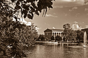 Parthenon Prints - Parthenon by the Lake Print by Douglas Barnett