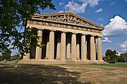 Nashville Tennessee Metal Prints - Parthenon Nashville Tennessee from the shade Metal Print by Douglas Barnett