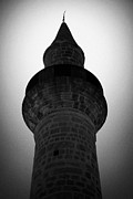 Kypros Framed Prints - Partial Silhouette Of The Minaret Of The Small 11th Century Touzla Mosque In Larnaca Cyprus Framed Print by Joe Fox