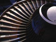 Vane Prints - Partial View of Jet Engine Print by Yali Shi