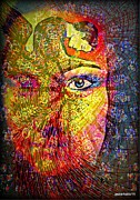 Sacred Digital Art Originals - Particular Divine Mother by Paulo Zerbato