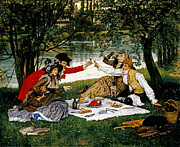 Picnic Paintings - Partie Carree by James Jacques Joseph Tissot