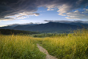 Line Prints - Parting Clouds at the Smokies Print by Andrew Soundarajan