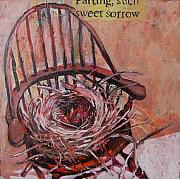 Chair Mixed Media Framed Prints - Parting Is such sweet sorrow Framed Print by Tilly Strauss