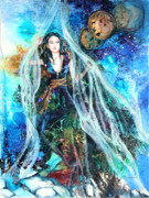 Print Mixed Media - Parting The Veil by Patricia Allingham Carlson