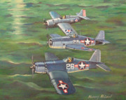 Us Navy Paintings - Partners in Fame 2 by Murray McLeod